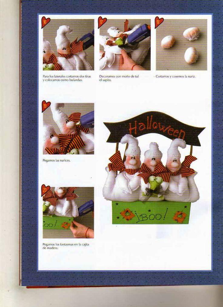como hacer muñecas halloween