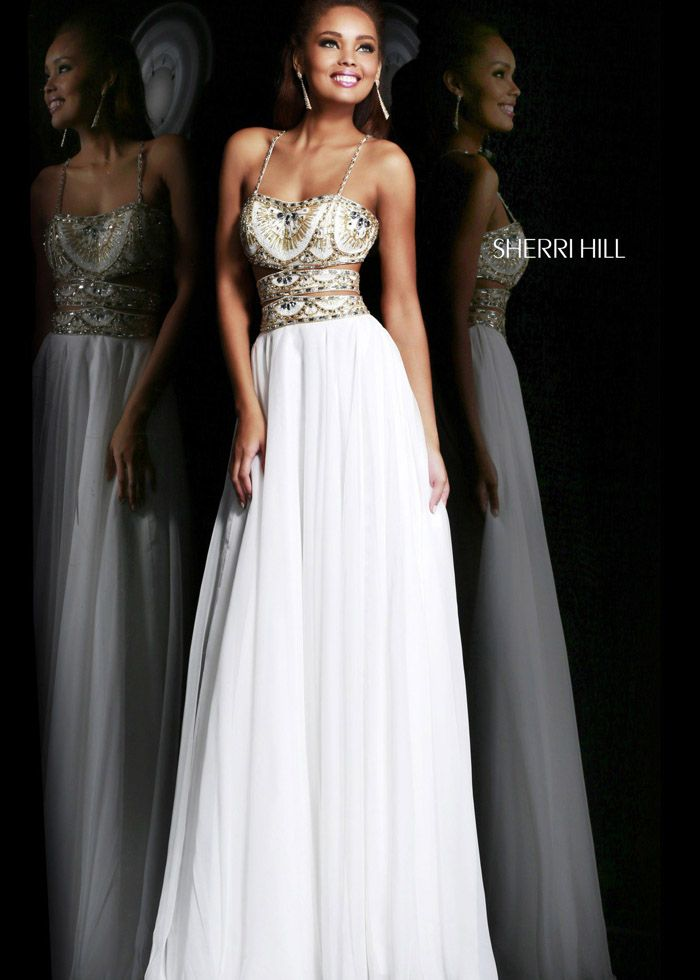 2014 Sherri Hill 11088 Strapless Ivory Beaded Dress - $180.00 : 2014 Prom Dresses Online Sale,Cheap Sherri Hill Dresses