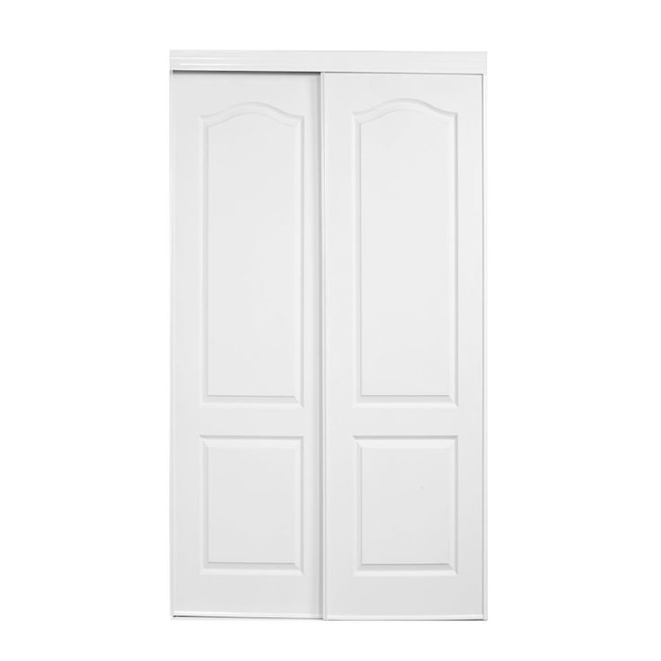 Truporte 59 In X 80 In 108 Series Primed 2 Panel Square Top Design Primed Mdf Bypass Sliding Door 108 5980 Bw The Home Depot Sliding Doors Sliding Doors Interior Interior Closet Doors