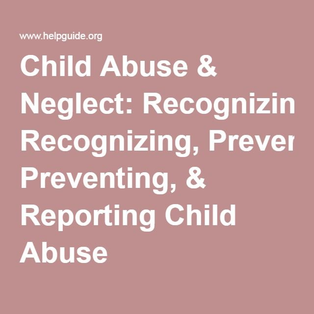 articles on child abuse and neglect