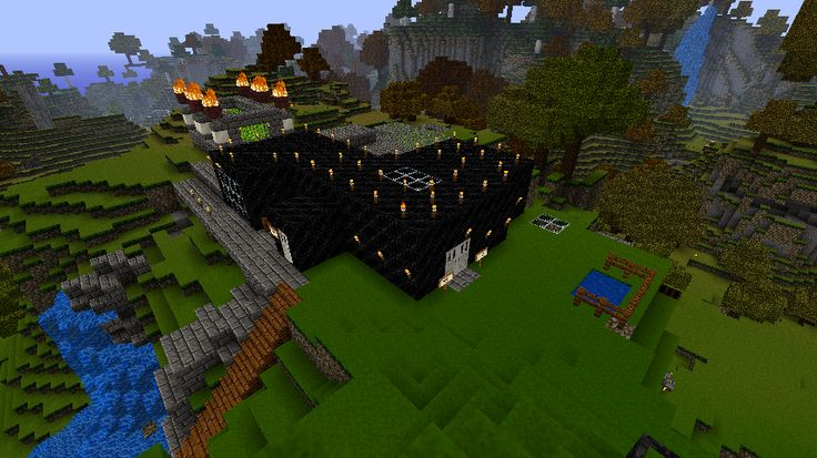Minecraft HousesMinecraft Obsidian House