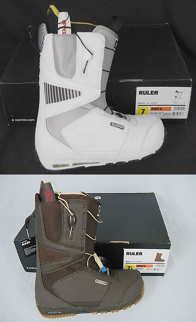 Boots 36292: New! Burton Ruler Mens Snowboard Boots! Black Brown White BUY IT NOW ONLY: $129.99
