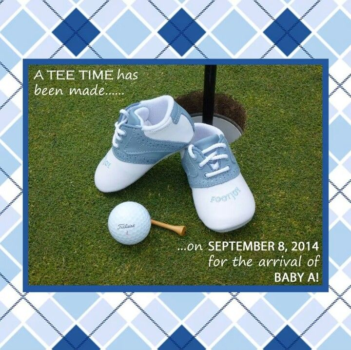 Golf themed baby/pregnancy announcement