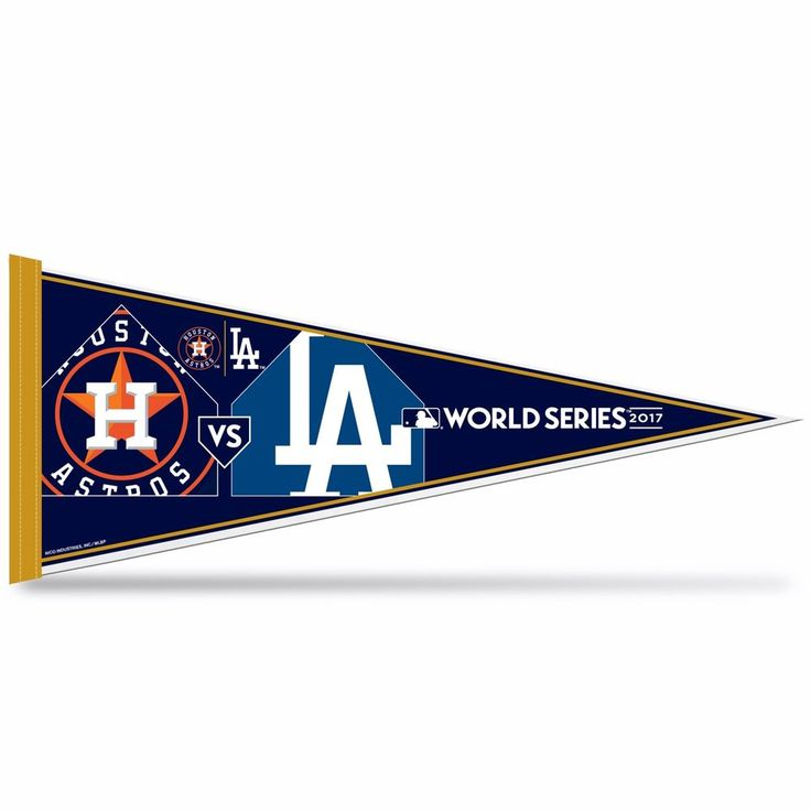 2017 MLB World Series Dueling Pennant LA Dodgers Houston Astros (RICO) #RicoIndustries #HoustonAstros