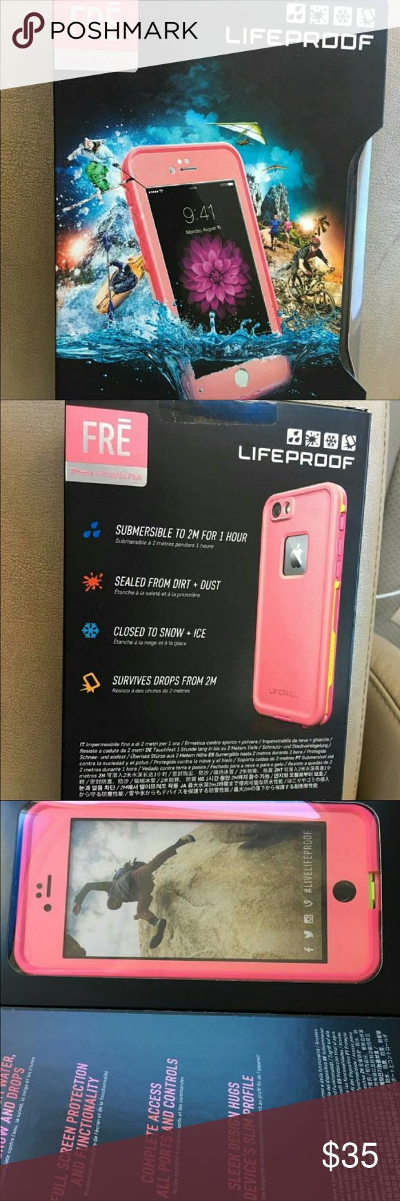 Lifeproof Fre Case IPhone 6plus/6s plus- Pink Lifeproof Waterproof case iPhone 6 Plus/ 6s Plus pink  Brand new 100% Authentic  Comes with 1yr warranty LifeProof Accessories Phone Cases