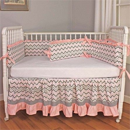 Add style to your child's nursery with the Chevron Pink Crib Bedding Set from Hoohobbers. Featuring stylish fabrics and a functional design!
