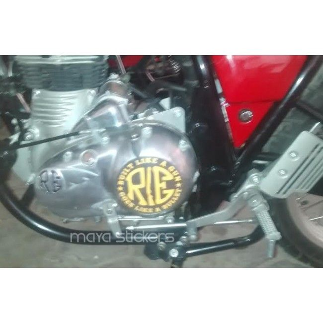 Engine Sticker For Royal Enfield Cafe Racer Royal Enfield Custom - Classic motorcycle custom stickers