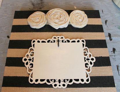 burlap canvas picture holder, crafts, home decor