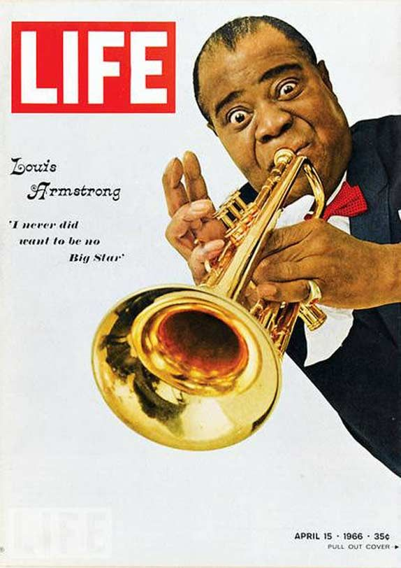 Louis Armstrong - Life Magazine Cover 1966 - cost of magzine was 35 cents