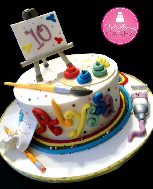 Artist Cake-would be great paired with the art birthday party theme i pinned earlier