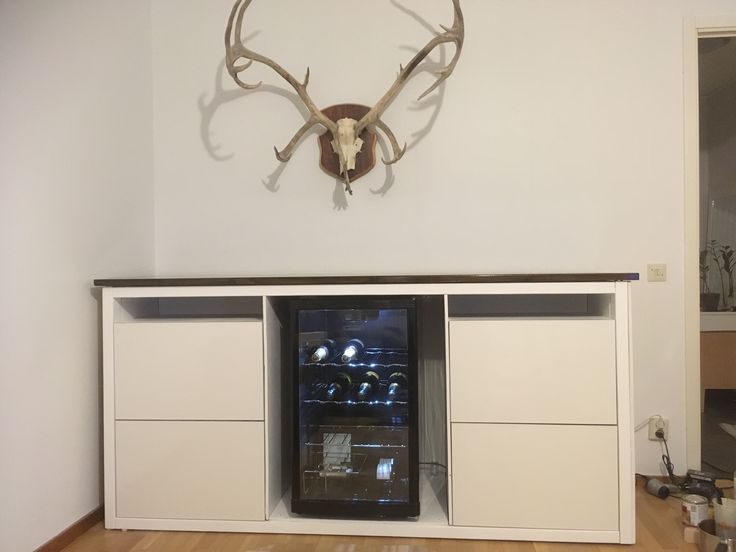 Diy bar with Ikea besta cabinets