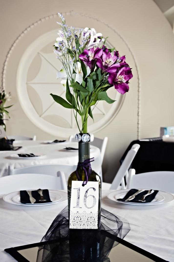 42 best images about wine bottle centerpieces on pinterest diy wine bottle empty wine bottles. Black Bedroom Furniture Sets. Home Design Ideas