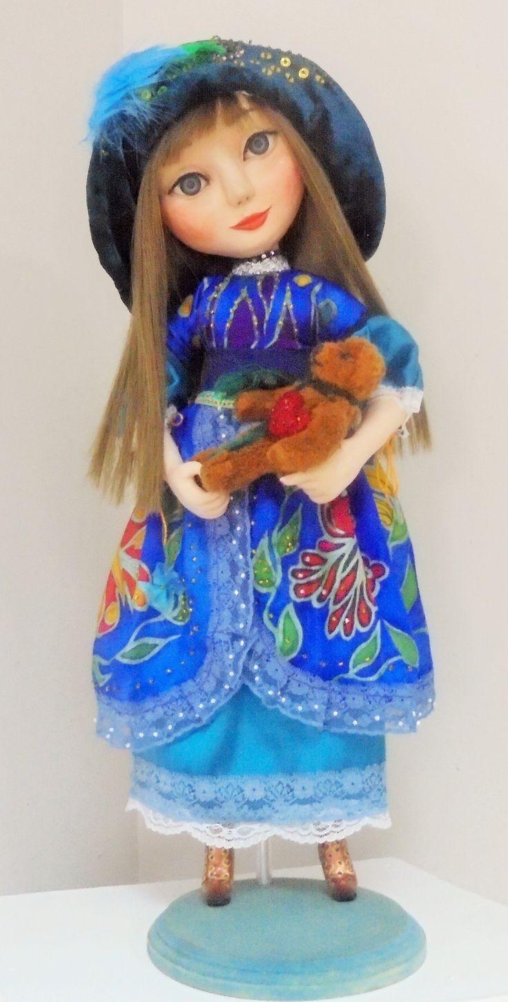 Doll Orabel. Size 20 in. Dress- batik.