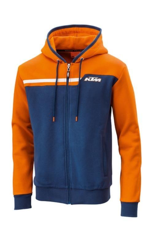 KTM Factory Style Zip Hoodie Logo Sweat Jacket