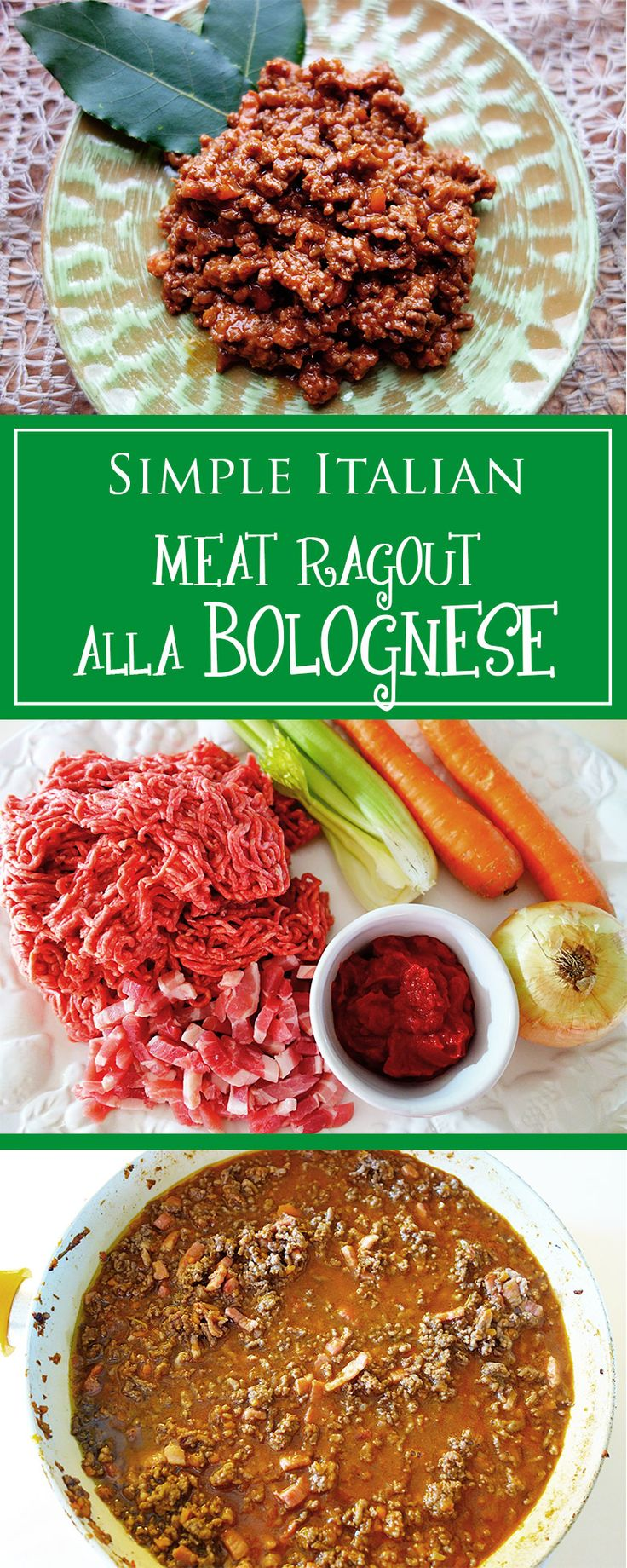Meat Ragout alla Bolognese - THE perfect family recipe! Here you can find a simple & most of all irresistably delicious version of the italian classic dish. 🍝🇮🇹❤️ | cucina-con-amore.com