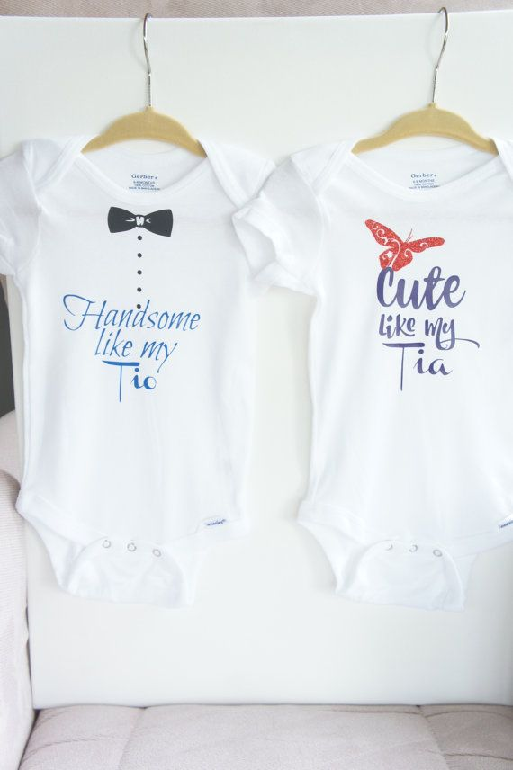 Cute Like My Tia Onesie, Handsome Like My Tio Onesie, Tia toddler tshirt, tio…