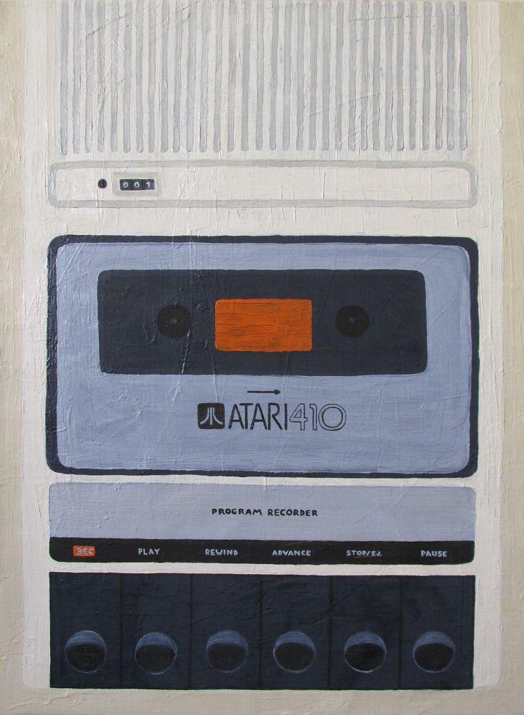 """Italo Contador """"Atari 410"""" 2013 Pintor Chileno"""
