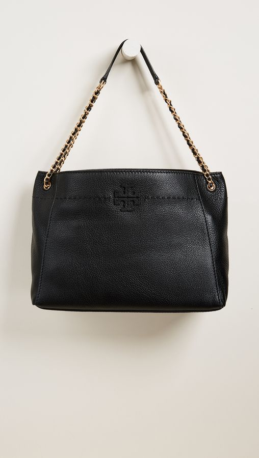 fe08330e4525 Tory Burch Mcgraw Chain Shoulder Slouchy Tote