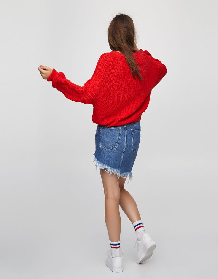Cropped sweater - Svetr - Úplet - Oděvy - Ženy - PULL&BEAR Czech Republic