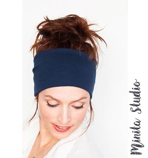 Namaste Yoga Headband  Navy Headband Workout Headband Running