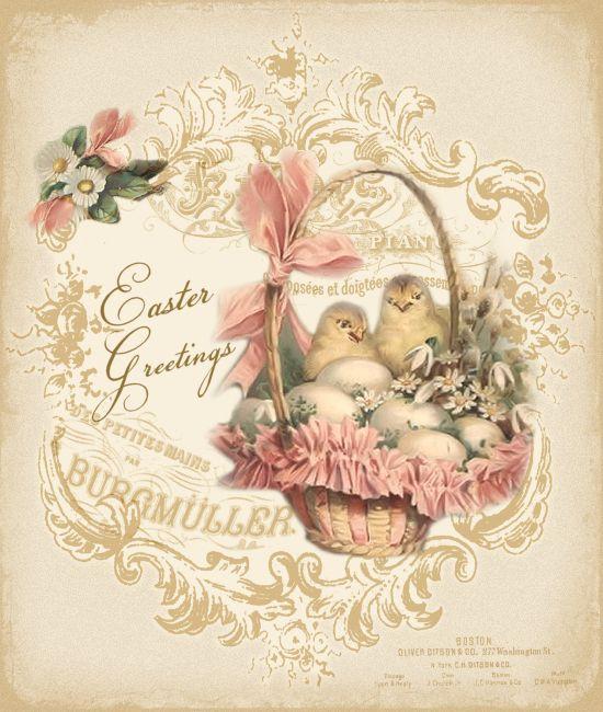Vintage Easter - JanetK.Design Free digital vintage stuff