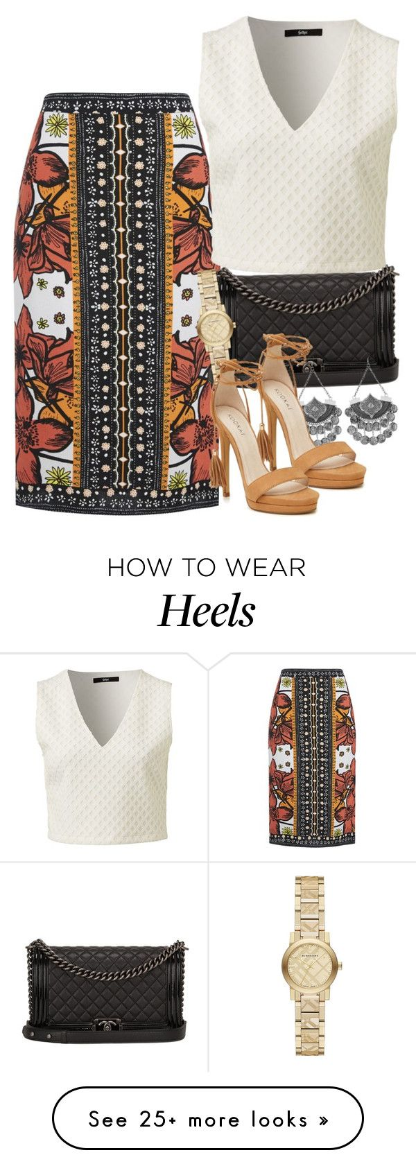 """""""Untitled #2123"""" by erinforde on Polyvore featuring Chanel and Burberry"""