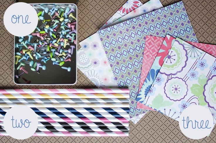 Tutorial creazione girandole con cannuccie di carta http://www.tipjunkie.com/paper-crafts/paper-pinwheel-tutorial/