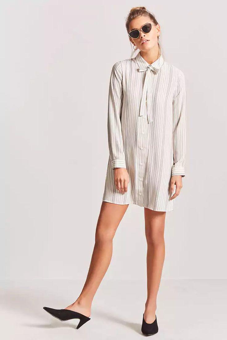 Product Name:Chiffon Shirt Dress, Category:dress, Price:17.9