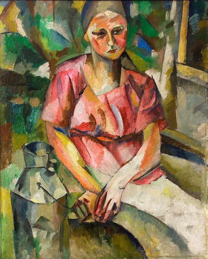 The Athenaeum - The Milkmaid (Aristarkh Lentulov - )
