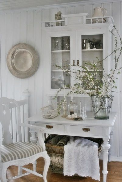 Beautifully gathered pieces and lovely apple blossom twigs