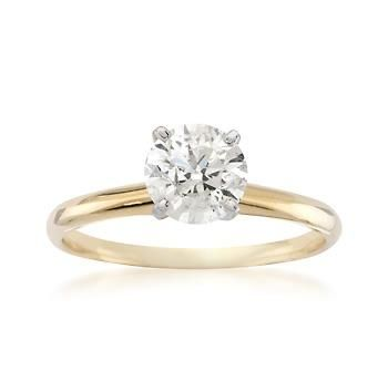 1.00 Carat Diamond Solitaire RSVP Engagement Ring In 14kt Yellow Gold (aka my dream ring) good gracious