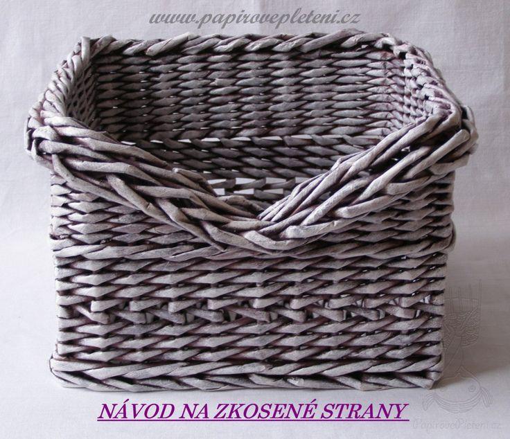 Návod na zkosené strany - Papírové pletení