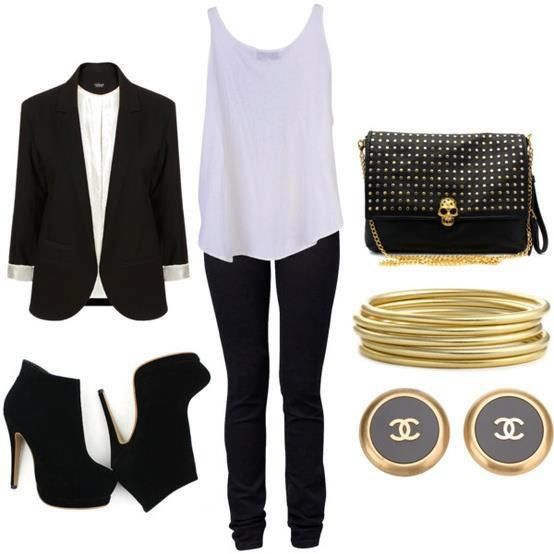 Black,gold, Chanel and a little rock and roll!