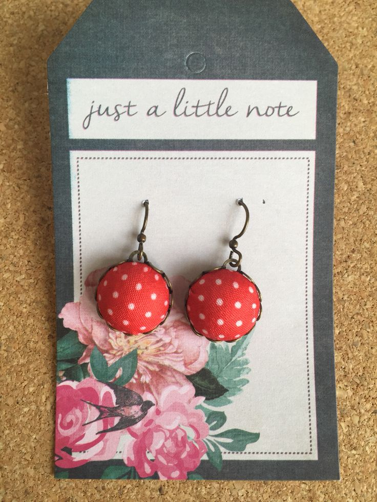 Red with white dots fabric button style