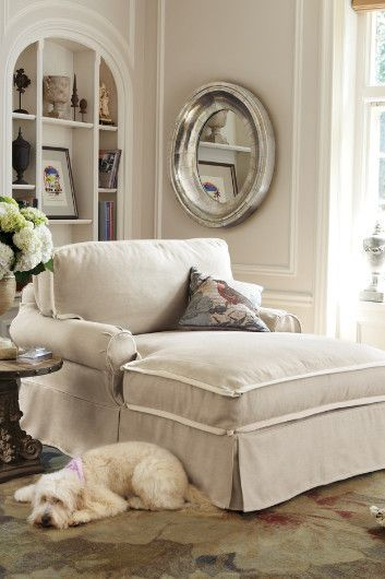 I want one of these!!!! Chaise And A Half I - Chaises, Furniture, Home Decor | Soft Surroundings