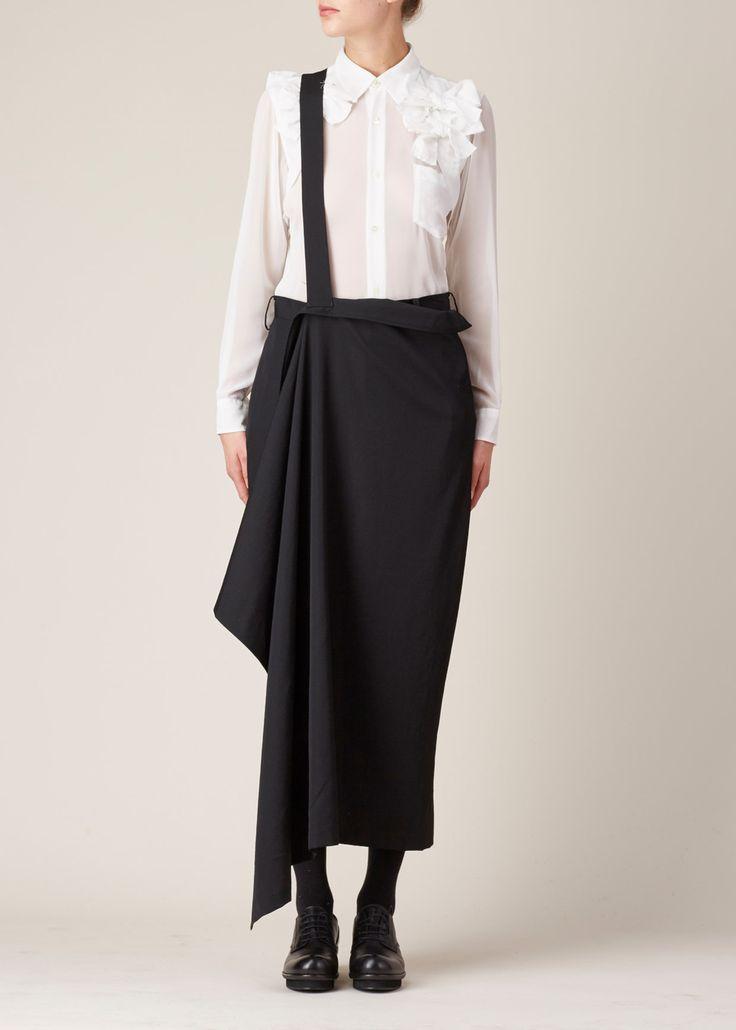Visions of the Future: Yohji Yamamoto Slim Wrap Skirt (Black)