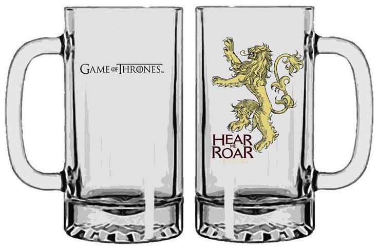 Game of Thrones Bierglas / Glas Lannister (Cersei, Tyrion, Jaime) hear me roar