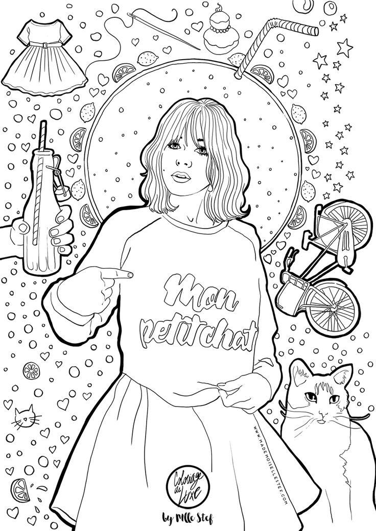Mademoiselle Stef - Blog Mode, Dessin, Paris | Coloriage : Make My Lemonade ! | http://www.mademoisellestef.com