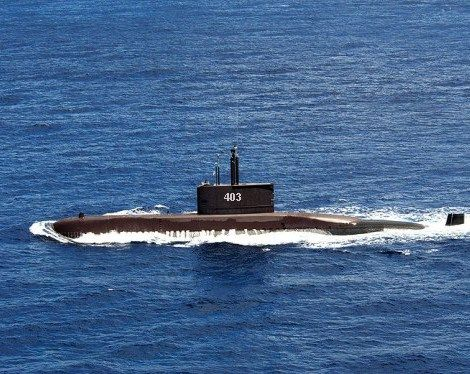 ilustrasi kapal selam Nagapasa 403