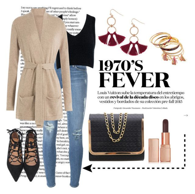 """#1981"" by mar-aloi ❤ liked on Polyvore featuring Frame Denim, Sans Souci, Closed, Humble Chic and Illamasqua"