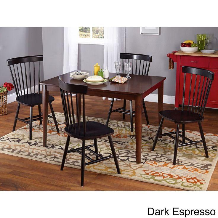 Simple Living Clarissa 5-piece Transitional Dining Set (Dark Espresso), Brown, Size 5-Piece Sets