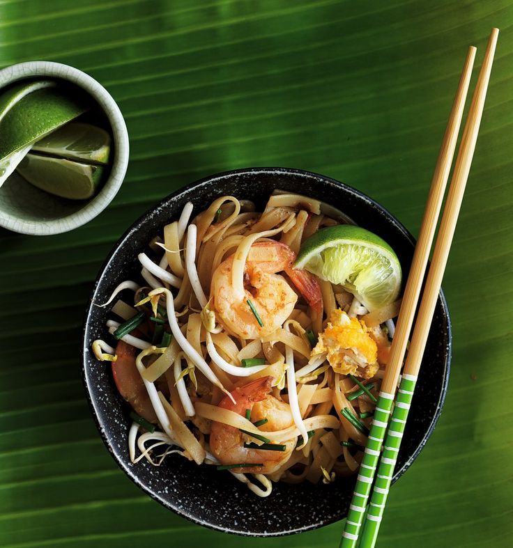 Malaysian-style Rice Noodles with Prawns & Garlic Chives