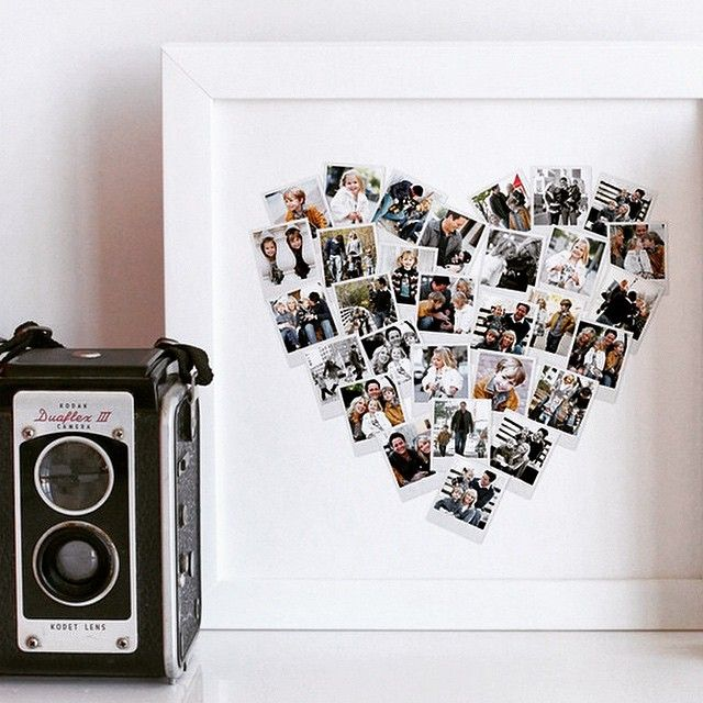 The Minted Heart Shaped Photo Collage - Capture all your favorite memories in a cute photo collage.