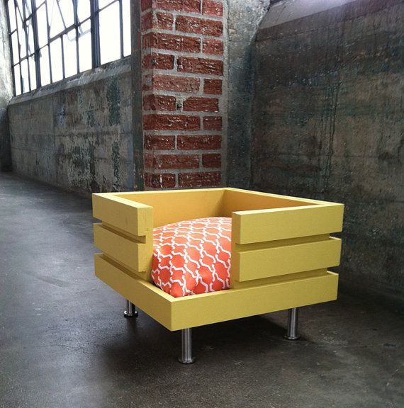 The Flat  Handmade modular style dog bed by ModularDog on Etsy, $150.00
