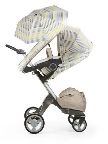 Stokke® Xplory® Summer Kit will shade your baby against the sun's harmful rays. Fabrics offer SPF 50 protection for extra safety during summer. Kit includes a terry cloth pram seat liner to counter the effects of baby's sweat and help beat the summertime heat with extra ventilation in all the right places. The eye catching designs will grab attention when you are outside enjoying summer festivals or a simple walk in the park making the Stokke® Xplory® the ultimate summer stroller.