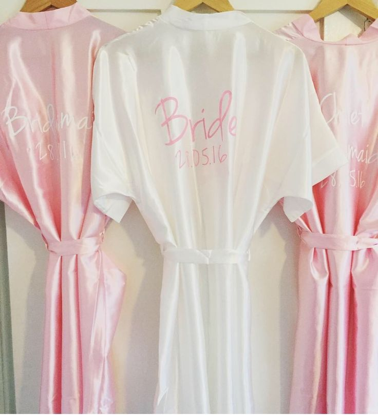 Personalised Satin Wedding Bridal Bridesmaid Dressing Gowns