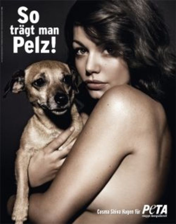 Cosma Shiva Hagen for PETA