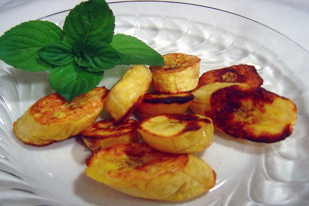 Oven Baked Sweet Plantains. Photo by Sue Lau