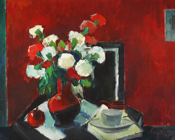 GHEORGHE G. VÂNĂTORU, Carnations and a cup of coffee, http://lavacow.com/current-auctions/contemporary-east-lavacow-auction/carnations-and-a-cup-of-coffee.html