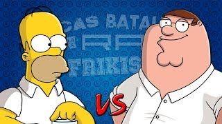 epicas batallas del rap del frikismo.homer simpson vs. peter griffin